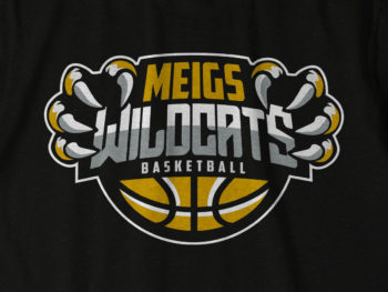 Meigs Wildcat basketball shirt design
