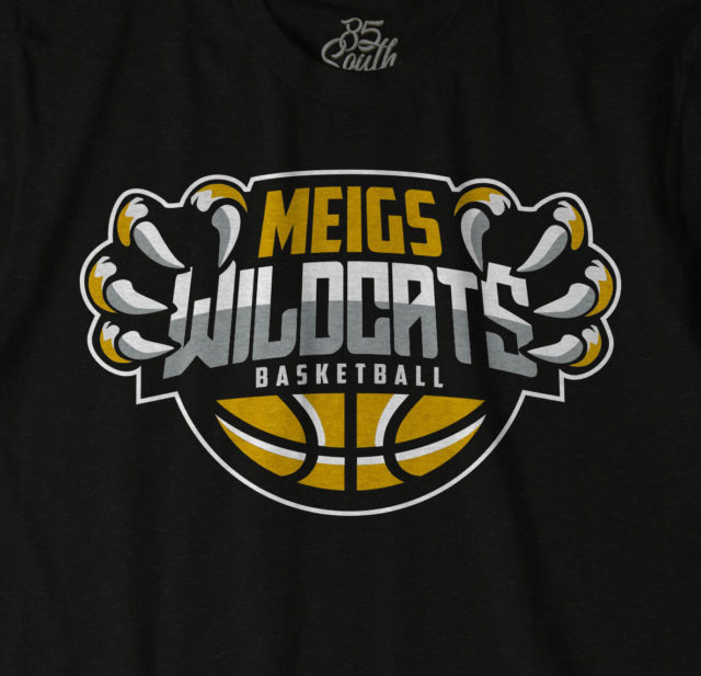 Meigs Wildcat basketball shirt design