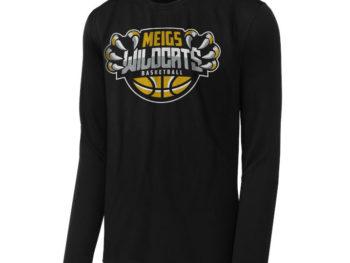 Meigs basketball long sleeve tshirt