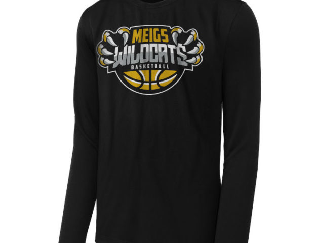 Meigs basketball long sleeve tshirt