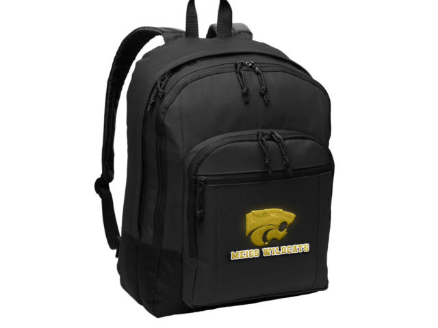 Meigs basketball team backpack