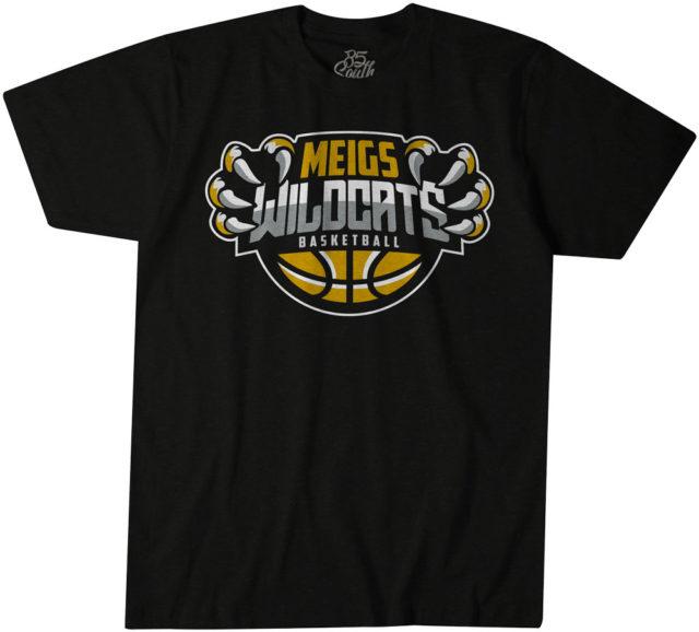 Meigs basketball short sleeve tshirt