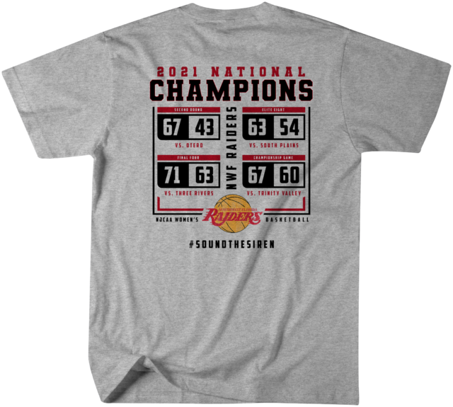 nwf state college lady raiders national championship tshirt