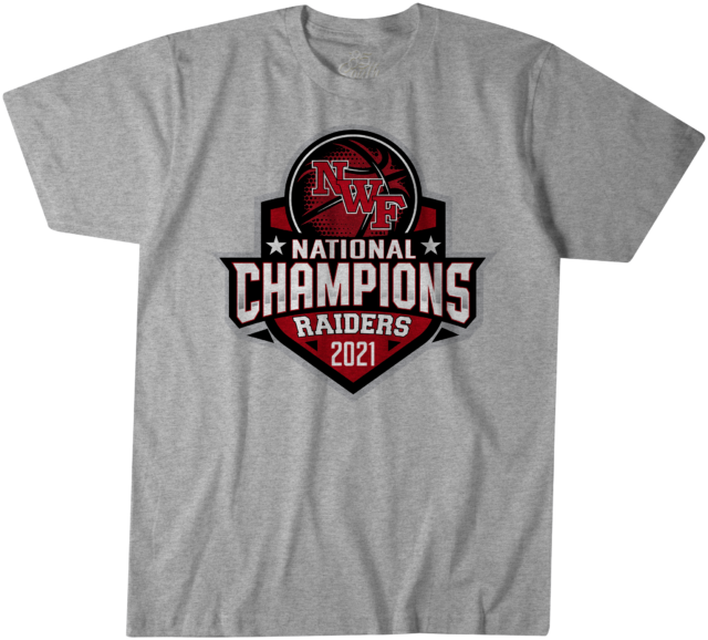 nwf state college lady raiders national championship tshirt front